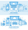 cloud computing media data server web storage vector image