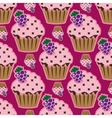 Cream cake pink seamless pattern vector image vector image