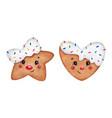 cute cartoon christmas ginger cookies vector image