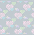 delicate valentines print pastel seamless pattern vector image vector image