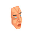 face of man male body part on vector image vector image