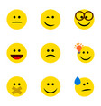 flat icon expression set of winking hush have an vector image vector image