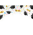 graduate caps and diplomas flying with confetti vector image