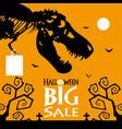 halloween sale banner template vector image vector image