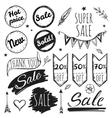 Hand Drawn Sale Tag Set vector image