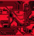 high tech electronic circuit board vector image vector image