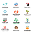 Housing Logos Compilation vector image vector image