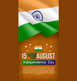 indian independence day vertical flyer vector image vector image