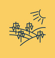 isolated linear icon - vineyard landscape vector image vector image