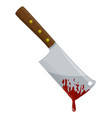 kitchen butcher chopper with blood symbol icon vector image vector image