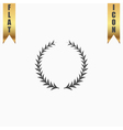 Laurel wreaths set isolated vector image