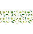 leaves and plants seamless pattern for your vector image vector image