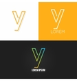 letter Y logo alphabet design icon set background vector image