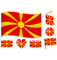 macedonian national flag in vector image vector image