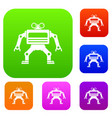 machine set color collection vector image vector image