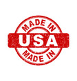 made in usa red stamp on white background vector image vector image
