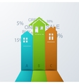modern real estate infographic background vector image vector image