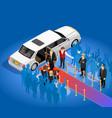 Music award celebrity limousin vector image