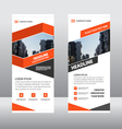 Orange Business Roll Up Banner template layout vector image vector image