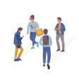 people walking concept flat style vector image vector image