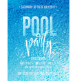 pool party poster with blue water ripple and