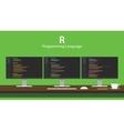 R programming language code vector image vector image