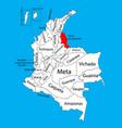 region map norte de santander colombia province vector image