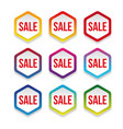 sale label promotion hexagon sticker vector image