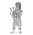 scotsman in national costume traditional vector image