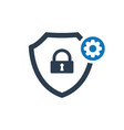 security icon with settings sign vector image