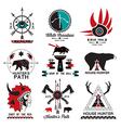 set hunting ethnics logo vector image vector image