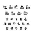 Set icons of conveyor and robotic industry vector image vector image