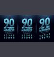 sport future number blue glow modern alphabet vector image vector image