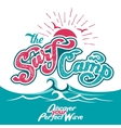 surf camp hand lettering vector image