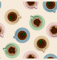 tea and coffee cups seamless pattern vector image vector image