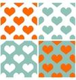 Tile pastel hearts background set vector image vector image