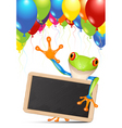 tree frog vector image vector image