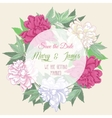 Wreath with pink and white peonies2 vector image vector image
