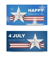 Banners with flag for US Independence Day vector image