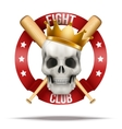 Fight club or team badges and labels logo vector image