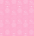Seamless background for Valentines day Wrapping vector image