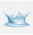 water splash with transparency realistic vector image