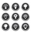 light bulb buttons vector image