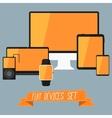 Set of modern user interface - digital tablet vector image