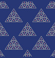 abstract seamless pattern triangles vector image vector image