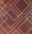 Abstract squares on a dark red background vector image