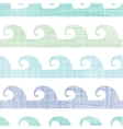 Abstract textile waves stripes seamless pattern vector image vector image