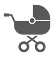 baby carriage glyph icon child and pram vector image vector image