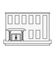 bank building edifice vector image vector image