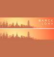 barcelona beautiful skyline scenery banner vector image